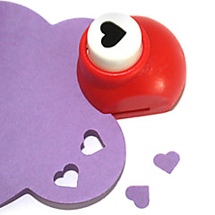 diy skæreværktøj mini metal hjerte mønster slag (tilfældig farve)