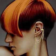 shixin® mode vanddråbe legering stud øreringe clips øreringe (golden, sølv) (1 stk)