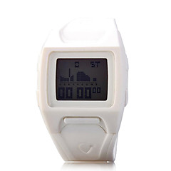 Women Rectangle Dial PU Strap LED Multifunction Sports Wrist Watch 30m Waterproof (Assorted Colors)