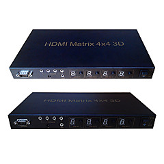 HDMI V1.3 4X4 HDMI Matrixes(4 in 4 out)With IR Control Support 1080P