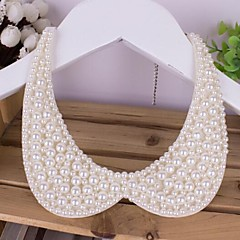 Necklace Pearl Collar Necklaces Jewelry Birthday / Party / Daily Handmade Pearl Black / White 1pc Gift