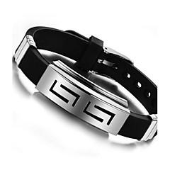 Z&X®  Man's Fashion Personality Titanium Steel Silicone Bracelets