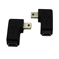 여성 확장 어댑터 conventer에 왼쪽 / 오른쪽 각도 90도 미니의 USB 남성