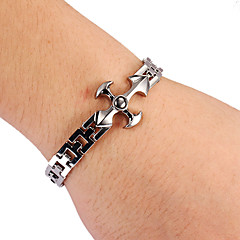 Fashion Cross Shape Unisex Silver Alloy Tennis Bracelet(1 Pc) Christmas Gifts