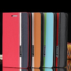 Mix-colored Design PU Leather Flip Case for iPhone 6