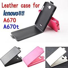 Voor Lenovo hoesje Flip hoesje Volledige behuizing hoesje Effen kleur Hard PU-leer Lenovo