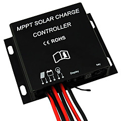 Mppt 10a panel solar controlador de carga de la batería de 12V 24V impermeable IP68 temporizador 120w / 240w