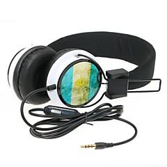 wzs- Hi-Fi ergonomiczne słuchawki stereo z mikrofonem mikrofonu -argentina flaga - czarny