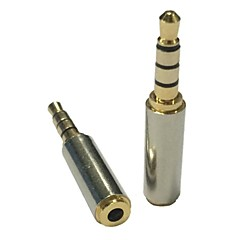 3.5mm d'or mâle vers 2.5mm casque audio convertisseur de l'adaptateur micro stéréo
