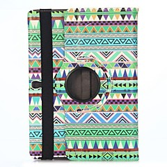 Green Tribe Triangles 360 Rotatable Side Flip Stand Elastic Belt PU Leather Case for Samsung Galaxy Tab S 10.5 T800 T805