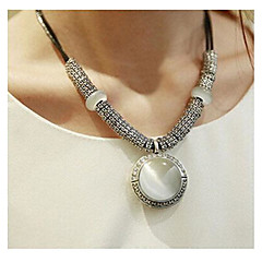Women's Pendant Necklaces Statement Necklaces Agate Leather Fashion Simple Style White Jewelry Wedding Party Daily Casual 1pc