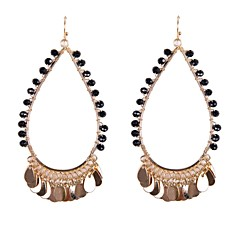 Fashion Beads Wrapped Drop Earrings
