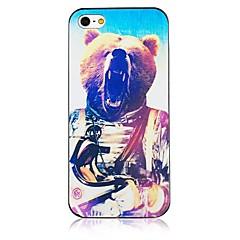 patrón del oso del gran marco negro trasera para el iPhone 5 / 5s