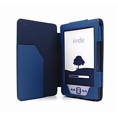 Skyddande Magnetic PU läderfodral för Kindle 4/Kindle 5