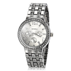 Women's Luxury Diamond Dial Steel Band Quartz Wrist Watch (Assorted Colors) Cool Watches Unique Watches