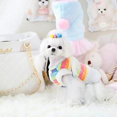 moda para mascotas capa encantadora dulce del arco iris para mascotas perros (diferentes tamaños)
