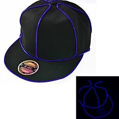 musta syttyvät hattu sininen el lanka johti hehku SnapBack 1AAA akku