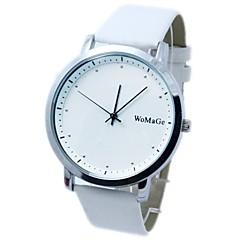 Couple's Round Dial PU Band Quartz Analog Wrist Watch(Assorted Colors)