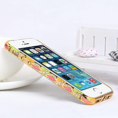 pára-choques shengo ™ luxo cristal strass estilo incrustada de metal para iPhone 5 / 5s (golden pára-choques) (cores sortidas)