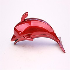 Adult Red And Blue Metal Dolphin Lighters Toys