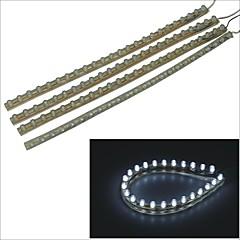 pvc-24 centímetros carking ™ flexível impermeável faixa de luz led para carros / motos-4pcs