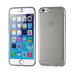 ultrafino ultrasuave de silicona transparente caja trasera para el iphone 6 / 6s (color clasificado)