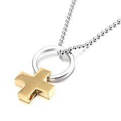 Golden Cross Zinc Alloy Men's Pendant Necklace