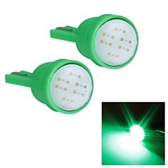 Merdia T10 1.5W COB 300LM 6SMD LED Highlight Green Light for Car Instrument Light /Licence  Plate Light