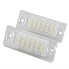 2 stk hvid 18 førte 3528 SMD nummer nummerplade-lygter lampe til vw passat B5