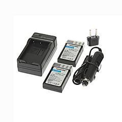 ismartdigi-nik en-EL9a x2 (1080mah, 7,4), fotoaparát baterie + EU zásuvka + nabíječka do auta pro Nikon D5000 D3000 d60 d40 D40x