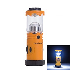 MultiFunction 9 LED 30lm Camping Lantern Light Orange With Black (4 x AA Batteries Not Included)