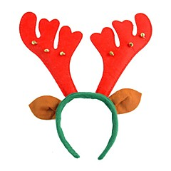 1PCS Christmas Supplies Textiles Christmas Antlers Headband with Bells and Ears
