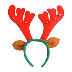 1pcs noël fournit textiles bois noël bandeau avec des cloches et des oreilles