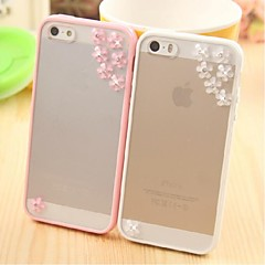 Meteor Shower Flower Pattern Metal Jewelry TPU Case for iPhone 5/5S(Assorted Color)