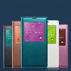 Layar asli terlihat kulit pu chipset pintar auto-tidur dan tahan air pad untuk samsung galaxy S5 (berbagai macam warna)