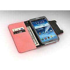 fashion® ylellinen lompakko PU nahkakotelo Samsung Galaxy Note2 n7100, pu nahka kotelo (valikoituja väriä)
