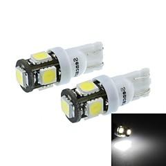 t10 (149 168 W5W) 2.5w 5x5060smd 160-190lm 6500-7500k lumière blanche pour lampe de parking (dc12-16v / une paire)