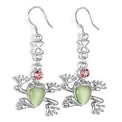 Lovely Alloy Platinum Plated Frog shaped Drop Earrings