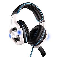 sades sa-903 hoofdtelefoon usb over het oor multifunctionele stereo-installatie met microfoon voor computer