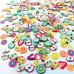 300PCS Mixed Style Fimo Slice Fruit Series Nail Art Decoration