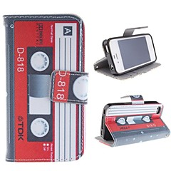 The Tape Design Restoring Ancient Ways PU Leather Case with Card Slot and Stand for iPhone 4s