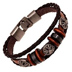 Z&X®  Vintage Punk Hand Made Leather Strand Bracelets