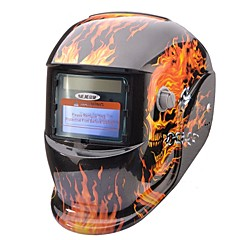 NEJE Flame Skeleton Solar Auto Darkening UV/IR Protection Welding Helmet Goggles