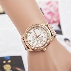 Women's Fashion Rhinestones Flower Steel Belt Quartz Wrist Watch(Assorted Colors)