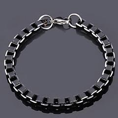 u7® δροσερό μαύρο κουτί αλυσίδες ποιότητας βραχιόλι από κράμα αλουμινίου 6 χιλιοστών κοσμήματα
