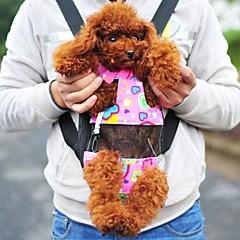 adorável forma de coração rosa mochila frente sacola para animais de estimação cães (tamanhos variados)