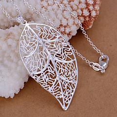 Medálok Strassz Leaf Shape ezüst 1