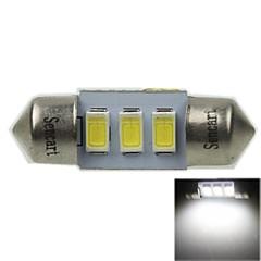 31MM(SV8.5-8) 1.5W 3X5730SMD 90-120LM 9000-10500K Cool White Light LED Bulb for Car License plate Lamp(AC12-16V)