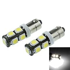 BA9S (w6w T4W) 4.5W 9x5060smd 280-360lm 6500-7500k luz blanca de la lámpara indicadora de coche (DC12-16V / un par)
