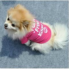 Gatos / Perros Camiseta Rosa Ropa para Perro Verano Letra y Número Cosplay
